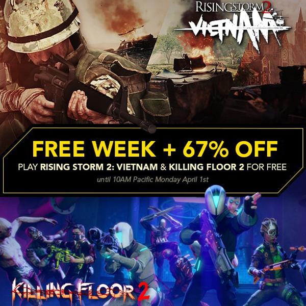 Killing Floor 2 и Rising Storm 2: Vietnam стали временно бесплатными в Steam