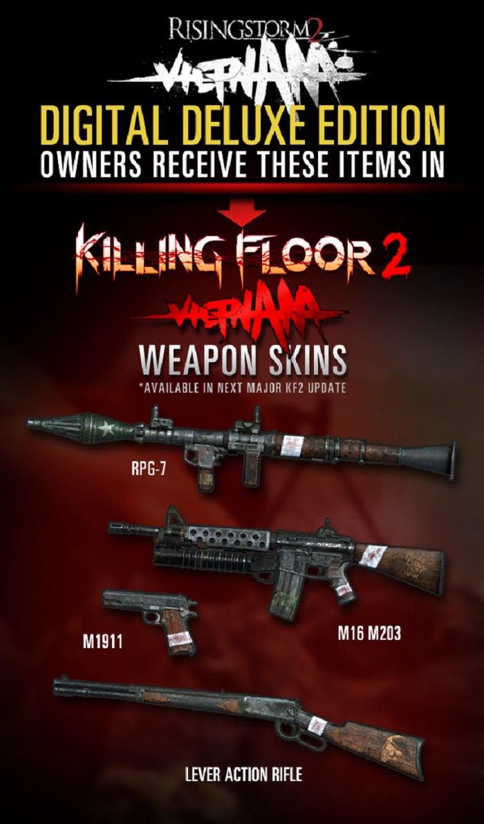 Эксклюзивные скины от Rising Storm 2 для Killing Floor 2